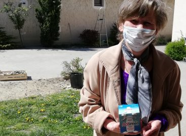 Danone donated 210,000 bottles of Actimel to elderly people in need