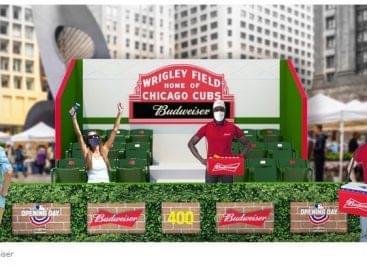 A Budweiser pop-up stadionokkal várja a baseball rajongókat