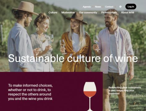 Central wine-themed website