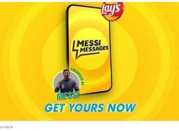 A Lay's perszonalizált üzenetet küld Messitől a rajongóknak