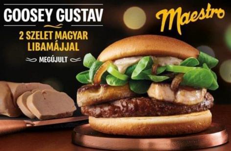 Visszatért a hungarikum, a Meki libamájas burgere