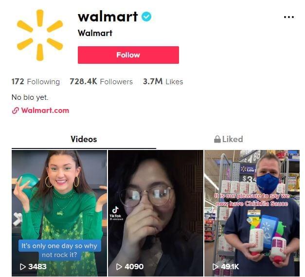Walmart a TikTok-on