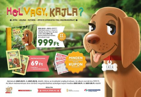 Kids can discover new domestic attractions: the Where Are You, Kajla sticker collection album series continues in SPAR