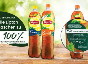 Lipton Bottles Made from 100 Percent rPET