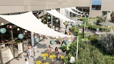 Több ezer négyzetméternyi zöldfelülettel nyílik meg Buda legnagyobb bevásárlóközpontja