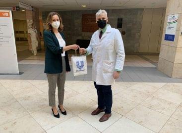 Honvéd hospital receiving donations from Unilever