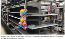 Rendetlenség és áruhiány az amerikai üzletekben