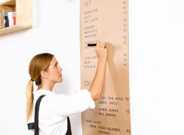 Install A Paper Roll Holder instead of blackboard – Picture of the day