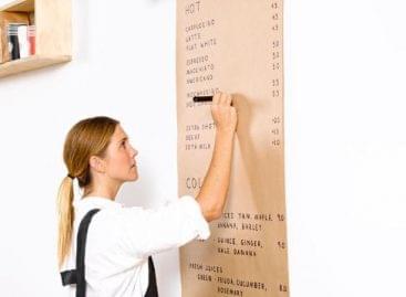 Információs tábla helyett információs csomagolópapír! – A nap képe