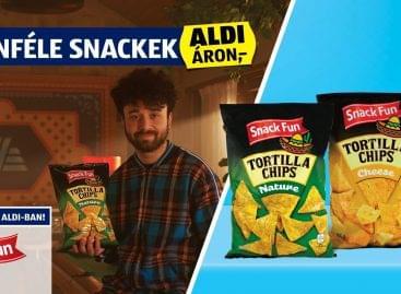 Ízletes ropogtatnivalók az ALDI-ban: SNACK FUN