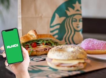 A Starbucks a Munch-csal közösen ment ételt
