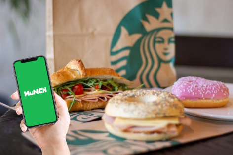 Starbucks works with Munch to save food
