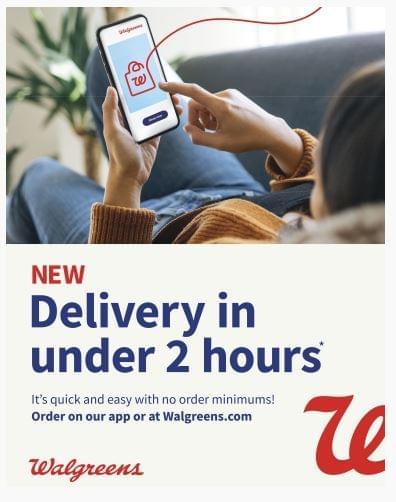 Walgreens 2 órán belül kiszállít