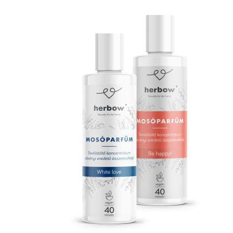 Herbow fragrance booster – Be Happy! – Guayaba scent and Herbow fragrance booster – White Love – Hibiscus-hay scent