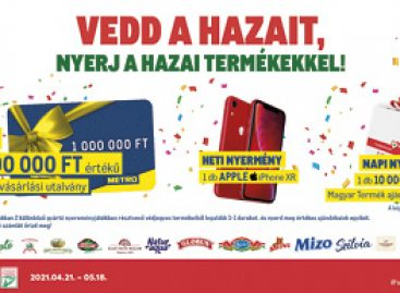 Hungarian products brought one million to the lucky winner