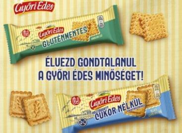 Gyorsan fogynak a polcokról a Győri Édes új, mentes termékei
