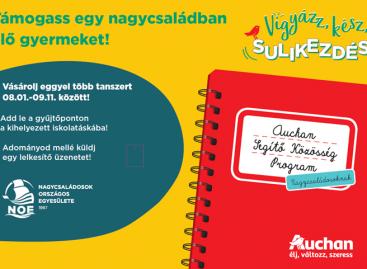 Idén is megszervezi tanszergyűjtési programját az Auchan és a NOE