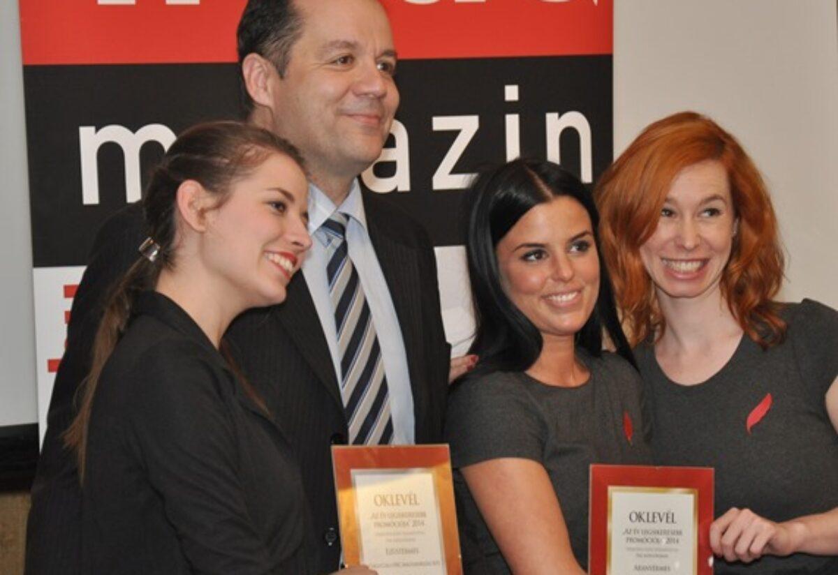 Az év legsikeresebb promóciója 2014 szakmai nap és díjátadó